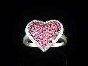Ruby Heart Ring Sterling Silver - Premier Estate Gallery  - 1