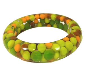 Vintage Lucite Bangle Bracelet MOD 1960s Geometric Bubbles - Premier Estate Gallery  - 1