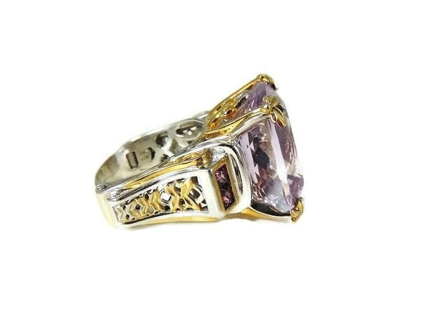Amethyst Ring Sterling Gold 35 cts Impressive - Premier Estate Gallery  - 4