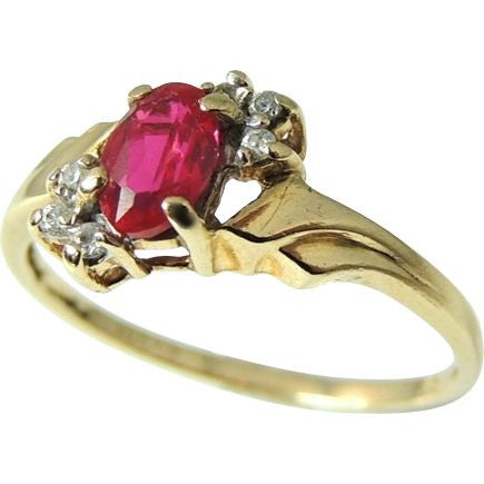 Ruby and Diamond Ring 10k Gold - Premier Estate Gallery  - 1
