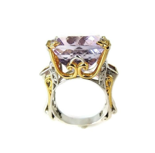 Amethyst Ring Sterling Gold 35 cts Impressive - Premier Estate Gallery  - 3