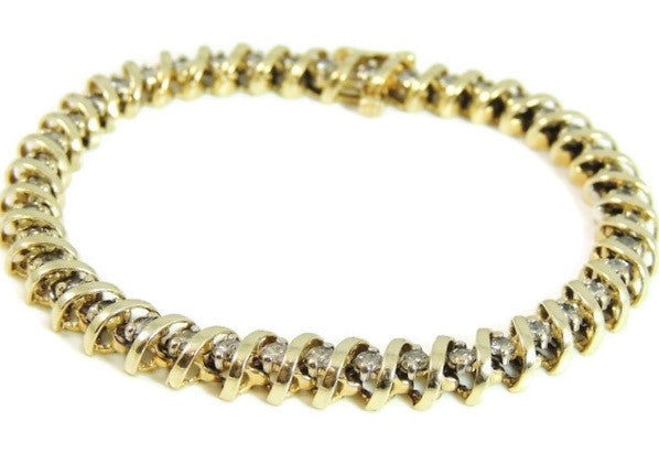 Diamond Tennis Bracelet 14k Gold 4.2 ctw - Premier Estate Gallery  - 3