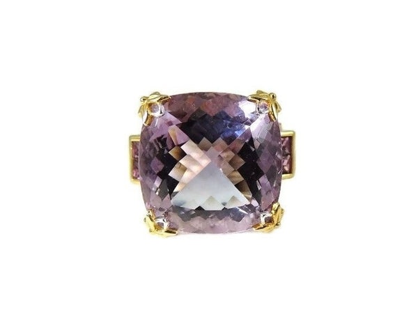Amethyst Ring Sterling Gold 35 cts Impressive - Premier Estate Gallery  - 5