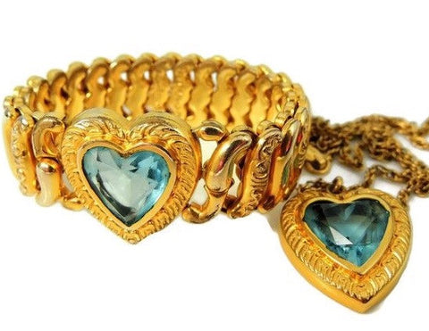 Pitman & Keeler Sweetheart Expansion Bracelet Necklace Set - Premier Estate Gallery  - 1
