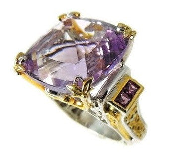 Amethyst Ring Sterling Gold 35 cts Impressive - Premier Estate Gallery  - 1