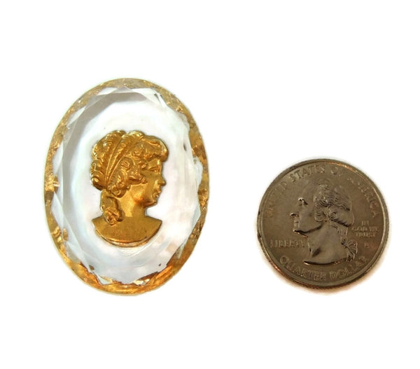 Antique Intaglio Victorian Woman Unmounted Crystal Gilt - Premier Estate Gallery  - 6