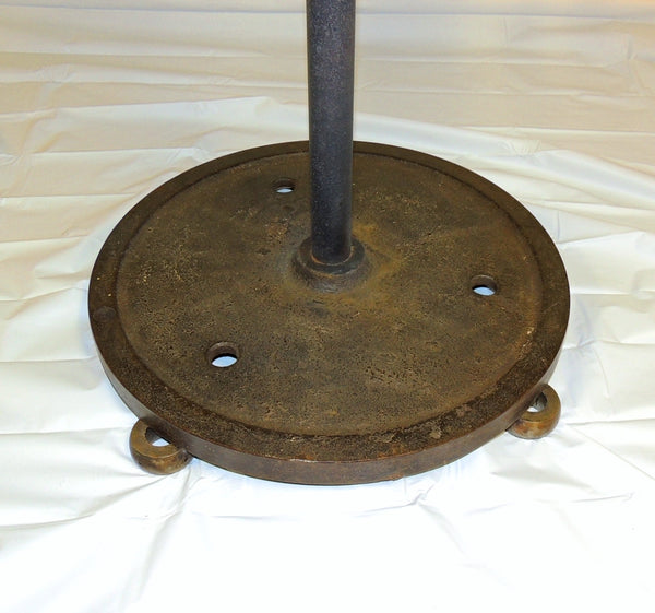 Industrial Cast Iron Wheel Cafe Table Antique Printing Press Must See - Premier Estate Gallery  - 8