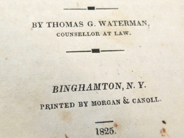 1825 The Justice's Manual State of NY - Thomas Waterman - 1st Edition - Rare Book - Premier Estate Gallery  - 4
