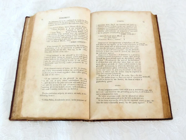 1825 The Justice's Manual State of NY - Thomas Waterman - 1st Edition - Rare Book - Premier Estate Gallery  - 6