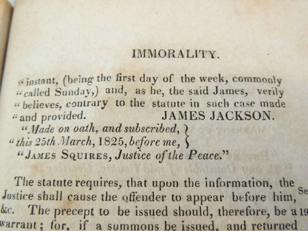 1825 The Justice's Manual State of NY - Thomas Waterman - 1st Edition - Rare Book - Premier Estate Gallery  - 9