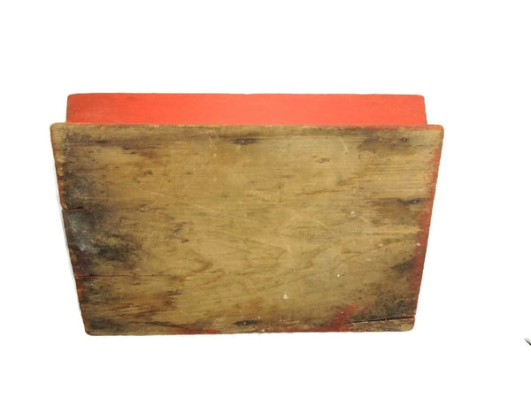 Primitive Red Painted Antique Pine Cutlery Box - Premier Estate Gallery  - 5