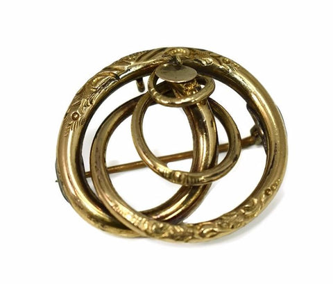 Victorian Love Knot 14k Brooch or Pendant Antique Gold - Premier Estate Gallery
