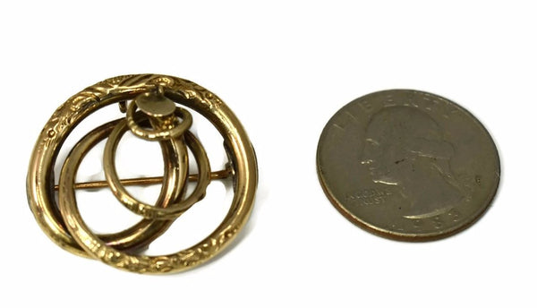 Victorian Love Knot 14k Brooch or Pendant Antique Gold - Premier Estate Gallery 2