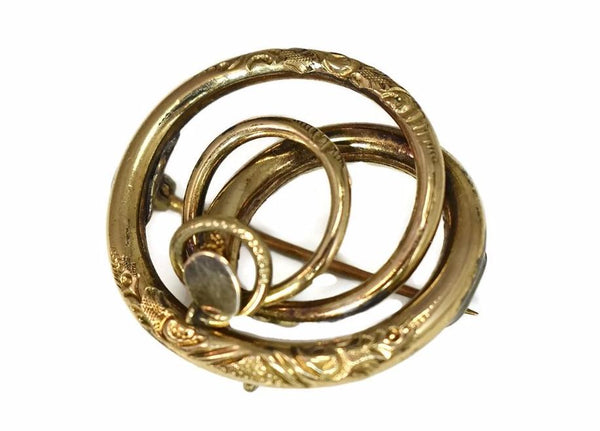 Victorian Love Knot 14k Brooch or Pendant Antique Gold - Premier Estate Gallery 3