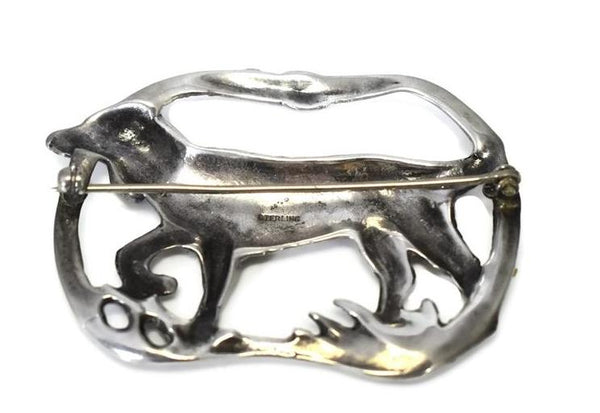 Vintage Irish Setter Brooch Sterling Silver Dog Brooch c1950