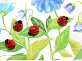 Ladybug Buttons on Vintage Greeting Card Six Small Buttons - Premier Estate Gallery 1