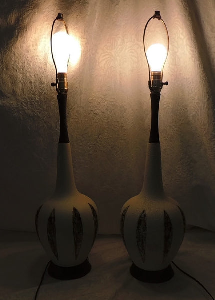 Vintage Art Pottery Table Lamps, Mid Century Modern Lamps, MCM Decor - Premier Estate Gallery  - 3