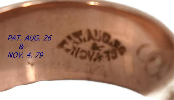 Antique 14k Rose Gold Victorian Leaf Wedding Band, Victorian Rose Gold Wedding Ring