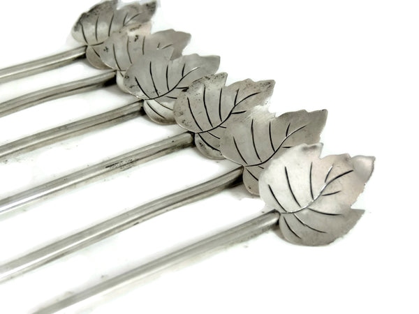Sterling Silver Stirrer Cocktail Sipping Spoons