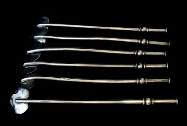 Taxco Silver Drink Stirrers Sipping Straws Vintage
