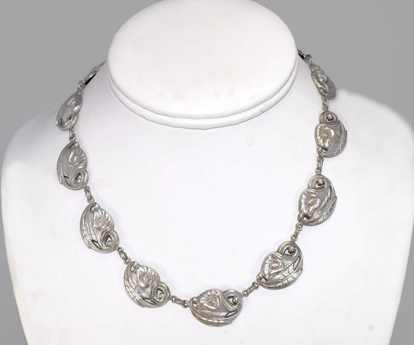 Vintage Silver Danecraft Calla Lily Necklace Art Nouveau Sterling Style - Premier Estate Gallery 2