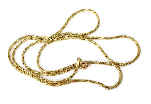 Estate 14k Gold Fancy Link 24 inch Chain Necklace - Premier Estate Gallery