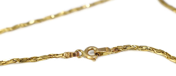 Estate 14k Gold Fancy Link 24 inch Chain Necklace