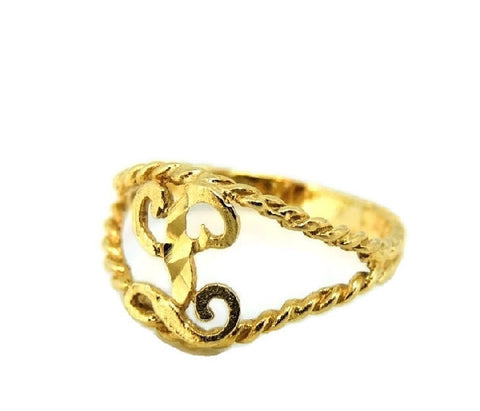 Child's 10k Gold Ring Initial L Letter L Pinky Ring - Premier Estate Gallery  - 1