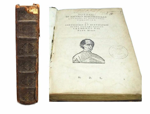 1550 Machiavelli Delle Historie and De Discorsi in One Book Italy - Premier Estate Gallery
