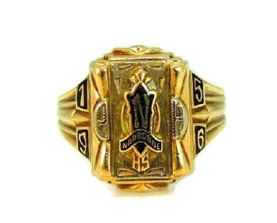 1956 Narbonne High School Class Ring 10k Los Angeles Collectible - Premier Estate Gallery  - 1