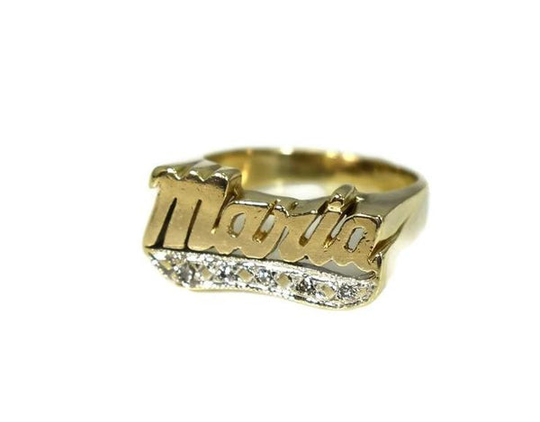 Vintage 14k Maria Ring Big Gold Setting Diamond Accents c1980 - Premier Estate Gallery 5