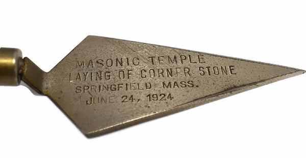 Springfield Mass Masonic Temple Commemorative Letter Opener 1924 - Premier Estate Gallery 2
