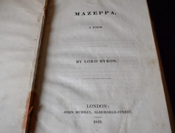 1819 Mazeppa A Poem Lord Byron - Premier Estate Gallery 2