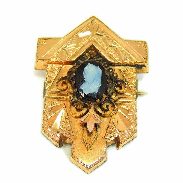 Victorian Cameo Brooch Gold Filled Ornate Scroll Setting - Premier Estate Gallery  - 2