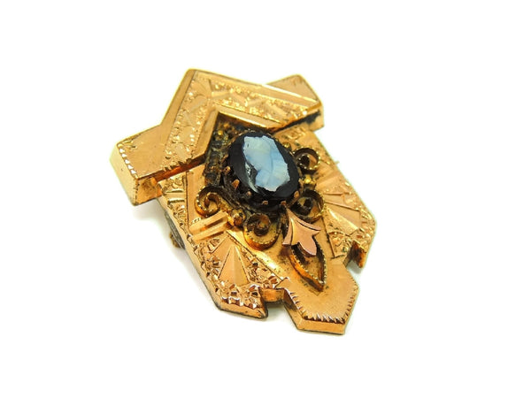 Victorian Cameo Brooch Gold Filled Ornate Scroll Setting - Premier Estate Gallery  - 4