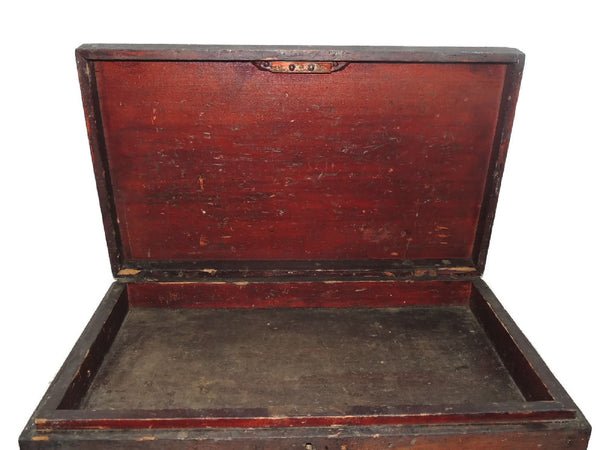 Wood Machinist Tool Box Beveled Sides Carpentry Antique - Premier Estate Gallery  - 3