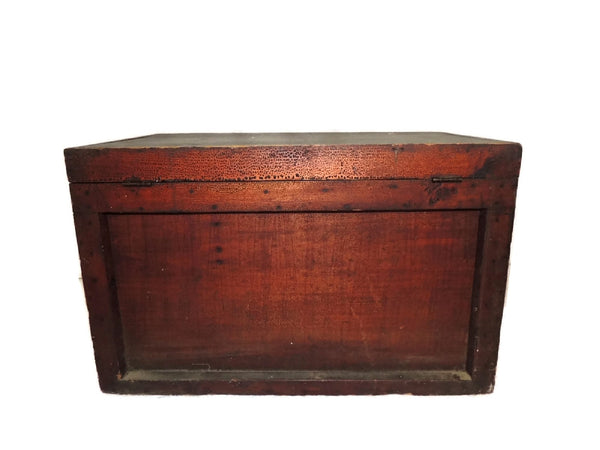 Wood Machinist Tool Box Beveled Sides Carpentry Antique - Premier Estate Gallery  - 7