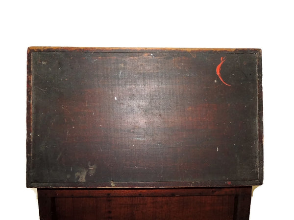 Wood Machinist Tool Box Beveled Sides Carpentry Antique - Premier Estate Gallery  - 8