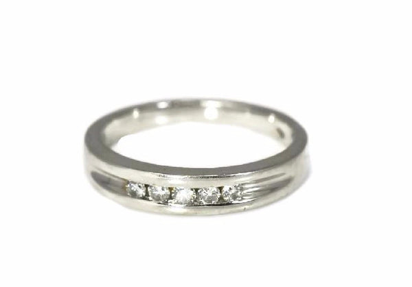 14k White Gold Diamond Band Wedding Ring for Men - Premier Estate Gallery 2