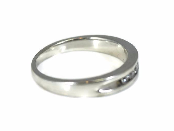 14k White Gold Diamond Band Wedding Ring for Men