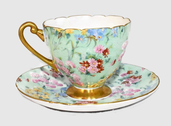 Vintage Shelley Melody Chintz Teacup Saucer Ripon Shape 13382 - Premier Estate Gallery 2