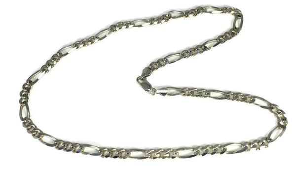 Vintage Sterling Silver Figarucci Chain, Silver Men's Necklace Italy, Sterling Silver Chain Italy 22 inch 33g - Premier Estate Gallery 1