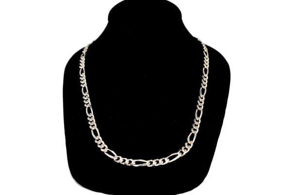 Vintage Sterling Silver Figarucci Chain, Silver Men's Necklace Italy, Sterling Silver Chain Italy 22 inch 33g