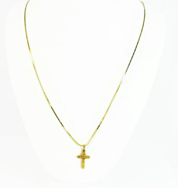 10k Gold Cross Pendant with 14k Gold Chain Religious Jewelry - Premier Estate Gallery  - 3
