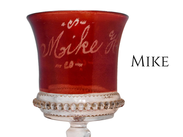 1904 Mike Hansel Ruby Flashed Glass Cordial EAPG Antique Glass - Premier Estate Gallery 4