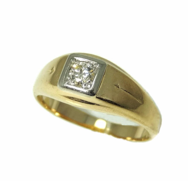 Estate 14k Gold Men's Diamond Ring Sz 12 - Premier Estate Gallery  - 1