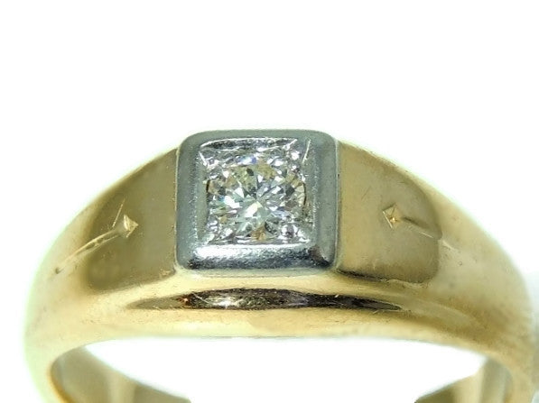 Estate 14k Gold Men's Diamond Ring Sz 12 - Premier Estate Gallery  - 2