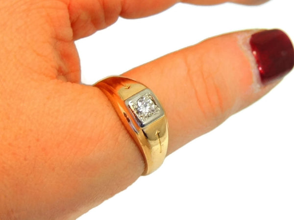 Estate 14k Gold Men's Diamond Ring Sz 12 - Premier Estate Gallery  - 5