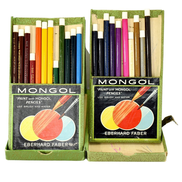 Vintage Faber Mongol Watercolor Pencils c1950 - Premier Estate Gallery 1