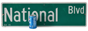 NATIONAL BLVD Big Authentic Street Sign 30X9 inch Wall Decor Business Restaurant Bar Decor - Premier Estate Gallery